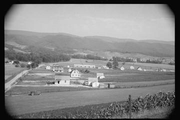 Tygart Valley Homestead, 1935. Credit Farm Security Adminstration