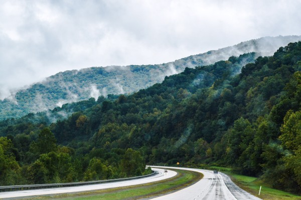 The scenery along W.Va. Route 55 is striking to anyone who loves nature like Morici.