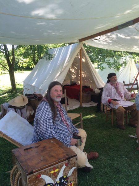 Steve Hart and Bob Dickinson at their tent